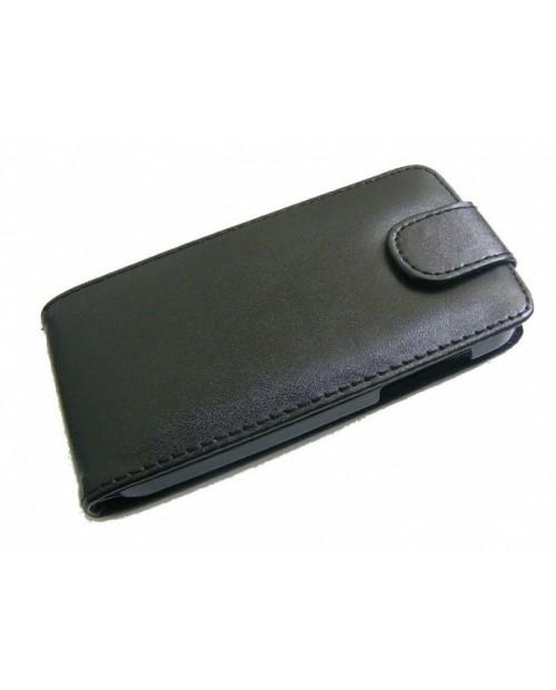 HTC Sensation XL Etui Kabura Czarne SKÓRA