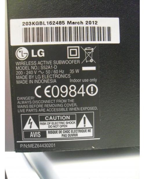 LG S52A1-D Wireless Bluetooth Subwoofer 35W